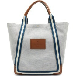 Anya Hindmarch - Pont Striped-handle Canvas Tote Bag - Womens - Grey Multi found on MODAPINS from MATCHESFASHION.COM - AU for USD $673.44