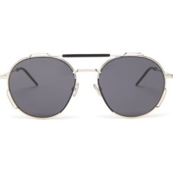 Dior Homme Sunglasses - Aviator Metal Sunglasses - Mens - Silver found on Bargain Bro UK from Matches UK