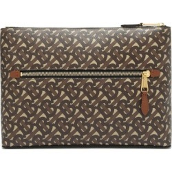 Burberry - Duncan Monogram-print Coated-canvas Pouch - Mens - Brown found on Bargain Bro UK from Matches UK