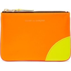Comme Des Garçons Wallet - Fluorescent Leather Coin Purse - Mens - Orange Multi found on Bargain Bro UK from Matches UK