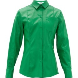 MSGM - Faux-leather Overshirt - Womens - Green found on Bargain Bro UK from Matches UK