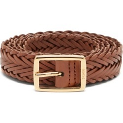 Fendi - Plaited Leather Belt - Mens - Brown found on Bargain Bro UK from Matches UK