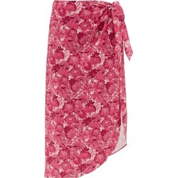 Adriana Degreas - Floral-print Sarong - Womens - Pink Print found on MODAPINS from Matches Global for USD $359.00