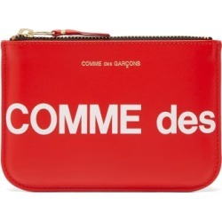 Comme Des Garçons Wallet - Logo-print Leather Pouch - Mens - Red found on Bargain Bro UK from Matches UK