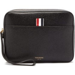 Thom Browne - Grained-leather Wash Bag - Mens - Black found on Bargain Bro UK from Matches UK