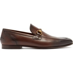 Gucci - Mocassins en cuir à mors Jordaan found on Bargain Bro from matchesfashion.com fr for USD $642.20