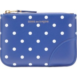 Comme Des Garçons Wallet - Polka-dot Leather Coin Purse - Womens - Navy Multi found on MODAPINS from MATCHESFASHION.COM - AU for USD $157.20