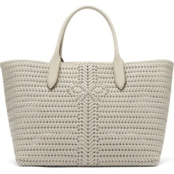 Anya Hindmarch - The Neeson Large Woven Leather Tote Bag - Womens - White found on MODAPINS from Matches Global for USD $1695.00