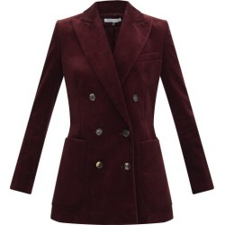Bella Freud - Bianca Double-breasted Corduroy Jacket - Womens - Burgundy found on MODAPINS from Matches Global for USD $730.00