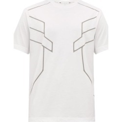 Blackbarrett By Neil Barrett - Reflective-print Cotton-blend Jersey T-shirt - Mens - White Multi found on Bargain Bro India from MATCHESFASHION.COM - AU for $89.05