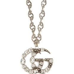 Gucci - GG Crystal-embellished Pendant Necklace - Womens - Crystal found on Bargain Bro from Matches UK for £1036