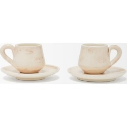 Brunello Cucinelli - Set Of Two Ceramic Cups And Saucers - Cream found on Bargain Bro UK from Matches UK