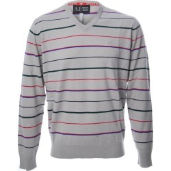 Armani Jeans Multi Striped V Neck Jumper found on MODAPINS from Atterley for USD $105.36