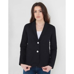 Armani Jeans Linen Blazer With Contrast Buttons Colour: Navy Blue, Siz found on MODAPINS from Atterley for USD $369.42