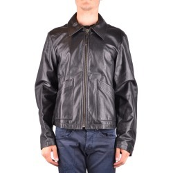 Armani Jeans Leather Jacket in Black found on MODAPINS from Atterley for USD $298.53