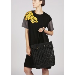 SOPHIE black woven raffia tote beach bag found on MODAPINS from Atterley for USD $296.23