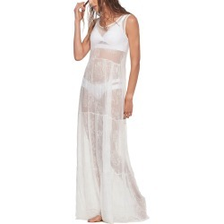 White Sheer Leaf Beach Dress found on MODAPINS from Atterley for USD $147.44
