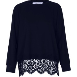 Dorothee Schumacher Effortless Emotion Nave Lace Sweater 623604 found on MODAPINS from Atterley for USD $244.58