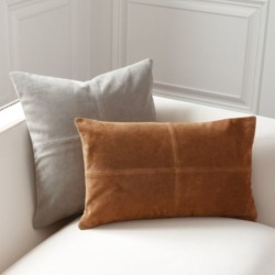 Ballard Designs Trending Products Sueded Leather Throw Pillows
