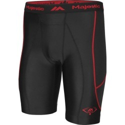 Majestic Is05 Cool Base Adult Slider Short | Size Small | Black/Red