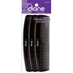 Diane Pocket Comb 5 D7041 3-Pack Womens Diane Brushes Combs & Piks