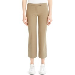 Low-Rise Cropped Flare Pants