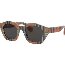 Check Print Acetate Square Sunglasses