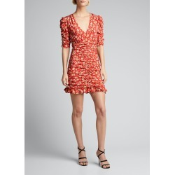 Josephine Ruched Floral Dress found on MODAPINS from Bergdorf Goodman for USD $595.00
