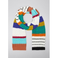 Mixed-Stripe Knit Scarf found on MODAPINS from Bergdorf Goodman for USD $730.00