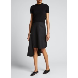 Ruffle-Trim Open-Back Wool Top found on MODAPINS from Bergdorf Goodman for USD $745.00