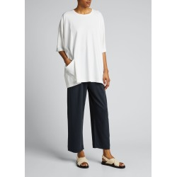 One-Pocket Crewneck Pima Cotton Top found on MODAPINS from Bergdorf Goodman for USD $285.00