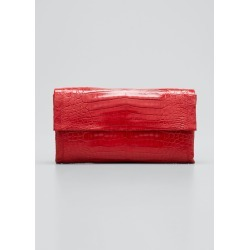 Simple Flap Crocodile Clutch Bag found on Bargain Bro India from Bergdorf Goodman for $1400.00