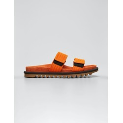 Men's Two-Tone Grip-Strap Goatskin Slide Sandals found on MODAPINS from Bergdorf Goodman for USD $705.00