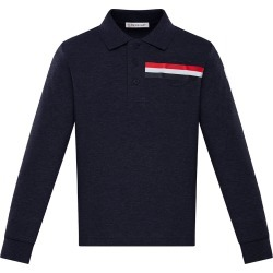 Boy's Long-Sleeve Logo Striped Polo Shirt, Size 4-6 found on Bargain Bro India from Bergdorf Goodman for $180.00