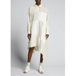 Patchwork-Print Oversized Midi Dress found on MODAPINS from Bergdorf Goodman for USD $1450.00