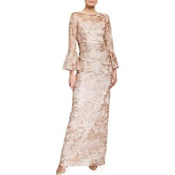 Sequin Lace Trumpet-Sleeve Gown found on MODAPINS from Bergdorf Goodman for USD $660.00