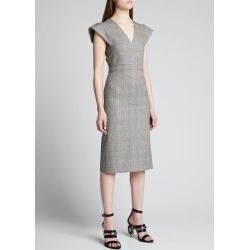 Prince of Wales-Check Pencil Dress found on MODAPINS from Bergdorf Goodman for USD $1990.00