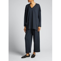 Angled-Pocket V-Neck Pima Cotton Top found on MODAPINS from Bergdorf Goodman for USD $310.00