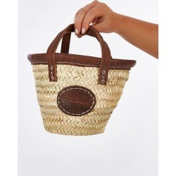 2 Duck Trading Baby Basket With Leather Trim