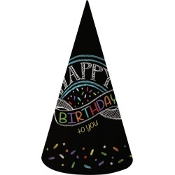 Chalk Party Adult Party Supplies Hats (8 Pack)