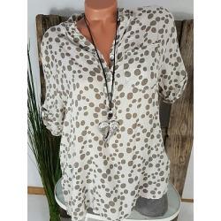 Berrylook V Neck Dot Short Sleeve Blouse clothes shopping near me, sale, Wave Blouses, work blouses, white blouses for women