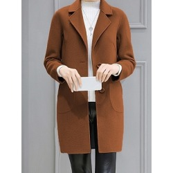 Berrylook Medium long loose coat clothing stores, sale, womens hooded jacket, leather jackets for women