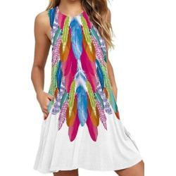Berrylook Round Neck Printed Shift Dress online sale, sale, printing Shift Dresses, shrug dress, shirt dress