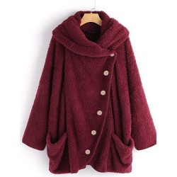 Berrylook Casual A Lapel Plain Belt Sleeve Knit Coat online sale, sale, cute winter coats, camel coat women's