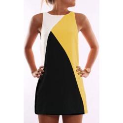 Berrylook Round Neck Color Block Shift Dress online sale, shoppers stop, Color Shift Dresses, petite dresses, below the knee dresses