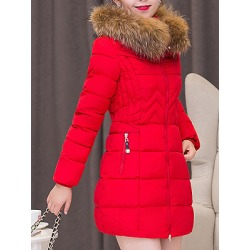 Berrylook Hooded Quilted Plain Padded Coat sale, online, fur hood coat womens, warm jackets for women