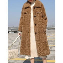 Berrylook Long loose temperament coat shoppers stop, cheap online stores, peacoat women, womens winter jackets canada