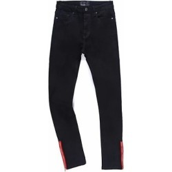Berrylook Fashion Trousers Red Side Zipper Tight-Fitting Stretch Jeans sale, shoppers stop, cheap leggings, leggings for girls