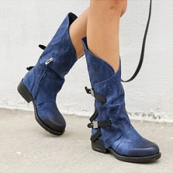 Berrylook Plain Round Toe Boots clothing stores, clothes shopping near me,
