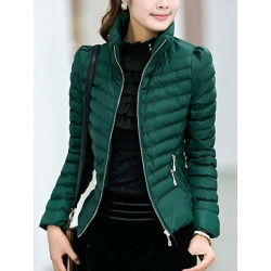 Berrylook High Neck Zips Quilted Plain Padded Coat online sale, cheap online stores, womens jackets sale, cute winter coats